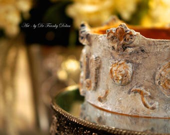 Blessing CROWN Sculpture COMMISSION by Fae Factory Artist Dr Franky Dolan {Jeanne D'Arc Talisman Relic Altar Protection Prayer Handmade Art}
