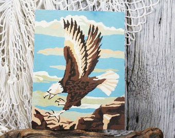 """Bald Eagle Paint By Numbers, Vintage Paint by Numbers, PBN 8"""" x 6"""""""