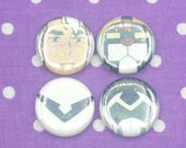 Black Lion Shiro Sparkle Button/Pin Set