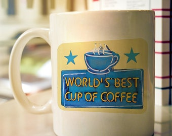 Elf Movie Inspired - World's Best Cup of Coffee - Color Accent Mug - 11oz or 15oz