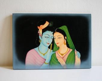 Great Lover Shiva Folk Art Original Painting