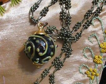 Festive Lampwork Bead Necklace