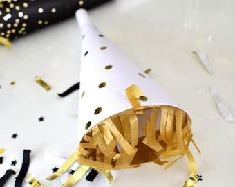 Celestial Star, Confetti, Metallic, Star, Wedding Confetti, Graduation Confetti, Black, Gold, Bachelorette Party, NYE, New Years, Decor
