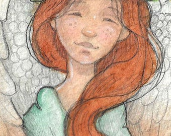 Angel...Original aceo