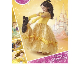 Simplicity Sewing Pattern 8407 A Child Doll Disney Princess Belle Costume NEW UNCUT
