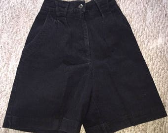Vintage Cherokee Women's Mom Jean Shorts Size 10 High Waisted Black