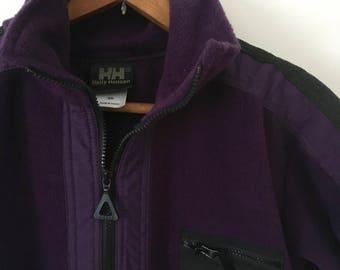 Vintage Helly Hansen Equipe Purple Fleece USA Made XS