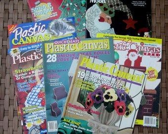 LOT of 7 Magazine PLASTIC CANVAS 1993 - 2001 Assortment of Back Issues