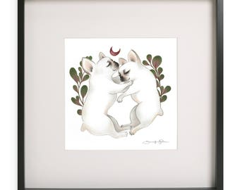 Piggy & Polly - Archival Giclee Print
