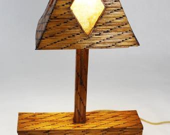Prison Art Match Stick Lamp