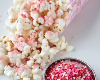 Popcorn gift set - first valentines day couple gift set of gourmet popcorn kernels and popcorn seasonings