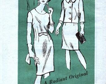 Prominent Designer M167 A Radiant Original Vintage 60s Mail Order Sewing Pattern for Misses' Dress and Jacket - Uncut - Size 16.5