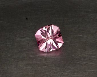 Pink Sapphire Loose Lab Created Conflict Free Handmade Precision Cut Modern Square Faceted Gemstone