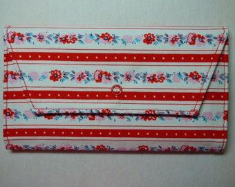 Retro Flowers Fabric Wallet