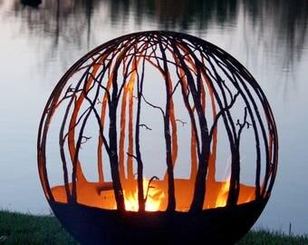 Winter Woods – Birch Tree Fire Pit