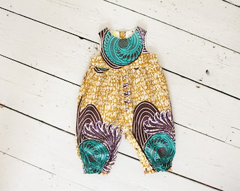 Ankara baby romper, African baby shower gift, African print onesie, African print babygrow, ankara playsuit, African kids clothes,