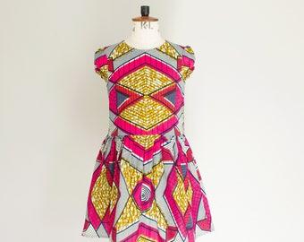 African Print girls dress, Ankara print toddler dress, African wax print children's dress, African girls dress,