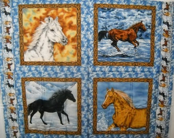 Horses at Sunset Quilt ePattern, 5000-5, horse quilt pattern ... : horse quilting fabric - Adamdwight.com