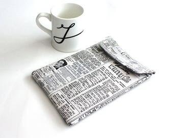 ipad mini sleeve - Retro newspaper ipad mini case - ipad mini cover