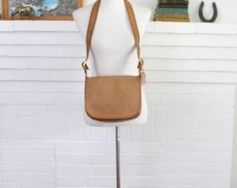 Vintage Coach Bag // Classic Shoulder Bag British Tan 9170 // Original City Saddle Purse Handbag NYC