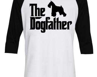 The Dogfather Miniature Schnauzer Shirt - The Dog Father Schnauzer Shirt - Dog Dad - Birthday's Gift - Men Baseball T-Shirt - IZBSUB183