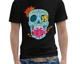 Sugar Skull T Shirt , Day Of The Dead , Mens T Shirt , Unisex T Shirt , American Apparel TShirt , Graphic T Shirt , Clothing , Graphic Tee