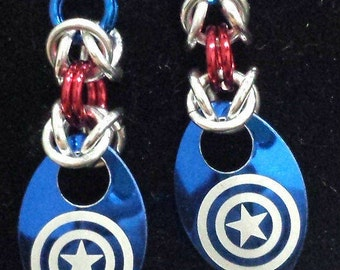 Super Hero Etched Scale Earrings