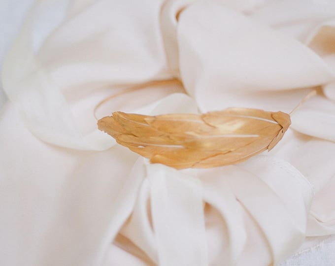 Gold Feather Headband, Grecian Headband, Gold Feather Hairband, Bridal Hair Accessories, Bridesmaid Gift, Wedding Headband, Silver Headband