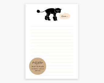 Funny Cat Notepad, Persian Cat, Grumpy Cat, Lion Cut, Naked Cat Kitten Cats, To Do List Memo Pad, Desk Office Supplies, List Pad, Pink Black