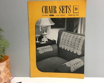 Chair Sets - J. & P. Coats Clark's Book No. 242 - 1948 -  first edition
