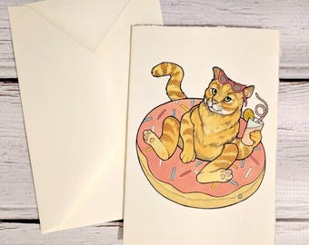Cat Pool Party Notecard