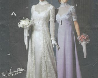 Patti Wagner-Miller Womens Edwardian Titanic Era Wedding Gown OOP Simplicity Sewing Pattern 9716 Size 6 8 10 12 Bust 30 1/2 to 34 FF