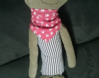 Eye-Sock-It Handmade Plush Doll