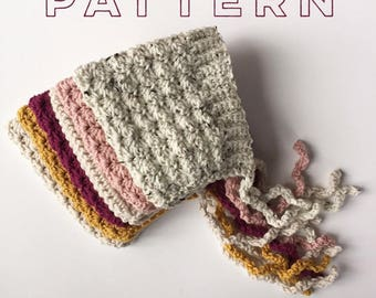 Bell Pixie Baby Bonnet - crochet PATTERN