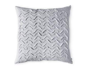 Linen decorative pillow cover, Textured pillow, Dove grey linen throw cushion cover SALE