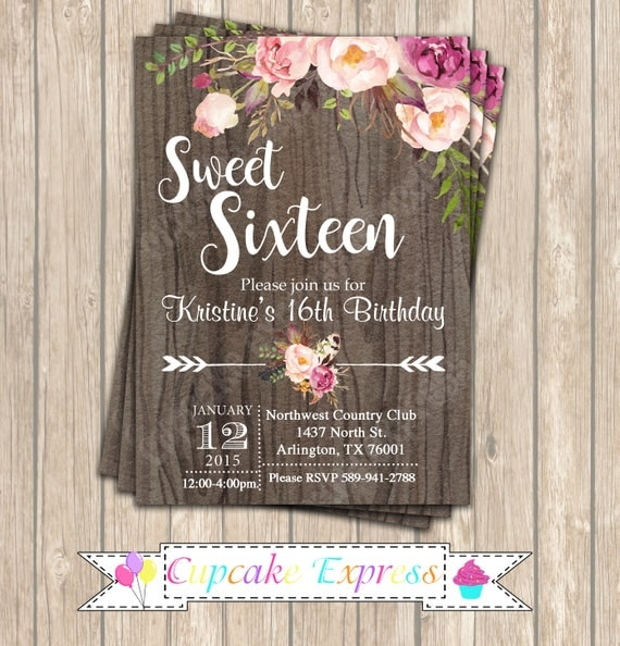Sweet 16 Invitation Birthday