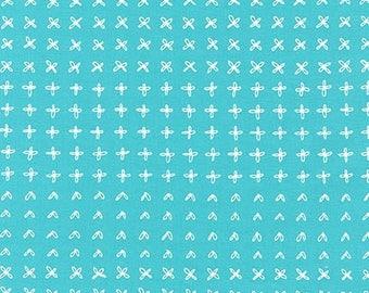 Blueberry Park Sprouting Row in Capri, Karen Lewis Textiles, Robert Kaufman Fabrics, 100% Cotton Fabric, AWI-15752-361 CAPRI