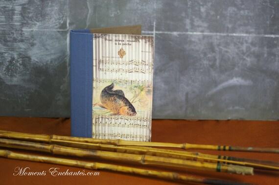 Carnet de pêche la Carpe cadeau idéal pour la Saint Valentin mais aussi pour les Valentines