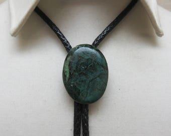 Vintage Green African Jade Bolo Tie