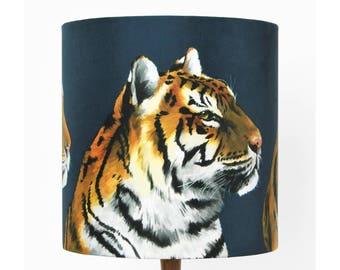Tigers Lampshade [small] - handmade silk shade