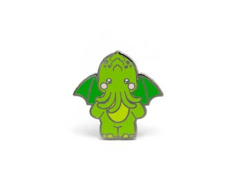Cute-thulu Enamel Pin - Hard Enamel Pin Cloisonné Cthulhu Lapel Pin Monster Pin Badge Kawaii Demon Pin Cthulhu Mythos Brooch