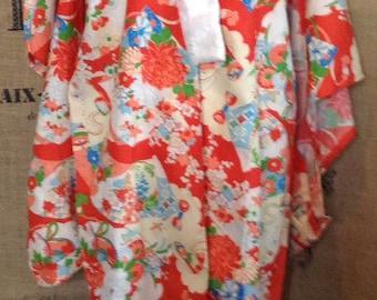 1940's rayon kimono robe loungewear dressing gown