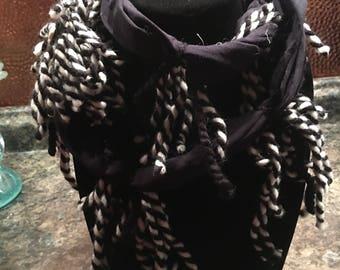 Infinity tshirt scarf