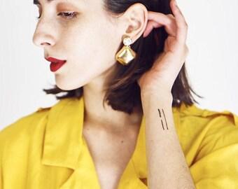Faux Gold Diamante Earrings
