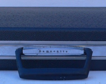 Vintage Samsonite Attache case, steel gray, Secret Agent Man, from Diz Has Neat Stuff