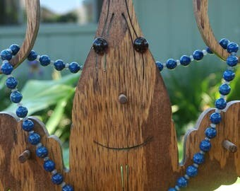 Round Lapis Beads with Labradorite Spacers