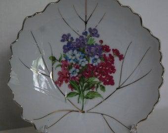 Vintage Forget Me Not Decorative Cabinet Plate Japan