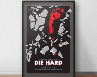 Die Hard Movie Poster - 12 x 18 inches