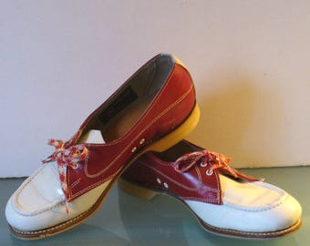 Vintage Indian Head Shoe Co. Leather Bowling Shoes Size 5