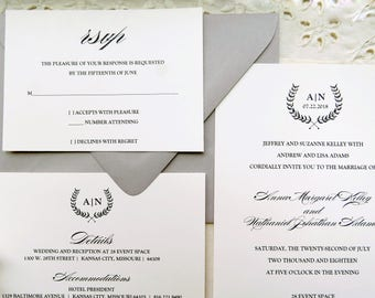 Wedding Invitation Suite  |  Instant Download PDF - Printable Wedding Invitation Suite |  Wedding Invite |  Branches Collection Style 04